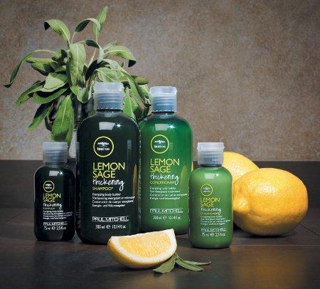 Tea Tree Lemon Sage - Тонизирующая и объемообразующая линия