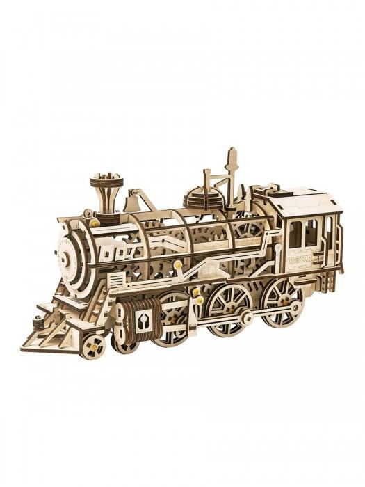 Деревянный механический конструктор Robotime локомотив Locomotive
