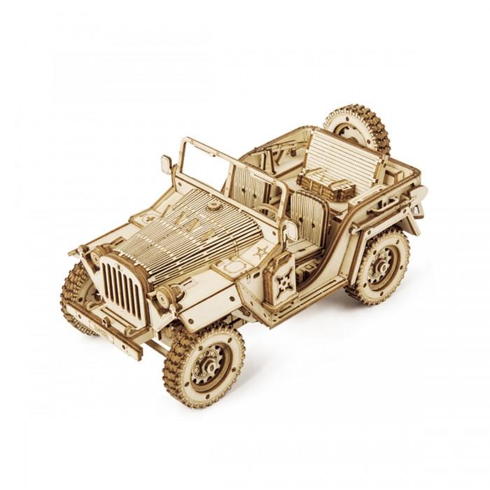 Деревянный конструктор Robotime армейский джип Army Jeep