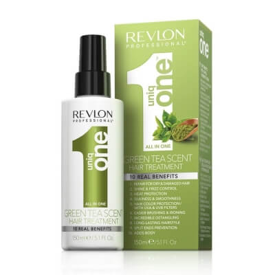Revlon Uniq One Green Tea Scent Treatment - Спрей маска для ухода за волосами с ароматом зеленого чая 150мл