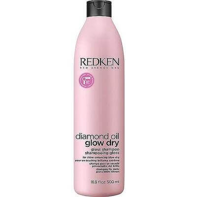 Redken Diamond Oil Glow Dry Gloss Shampoo - Шампунь усиление блеска 500 мл