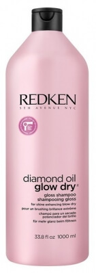 Redken Diamond Oil Glow Dry Gloss Shampoo - Шампунь усиление блеска 1000 мл
