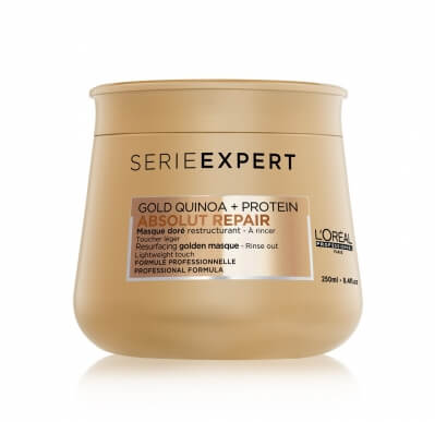 Loreal Absolut Repair Gold Quinoa + Protein - Восстанавливающая Маска с золотой текстурой 250 мл