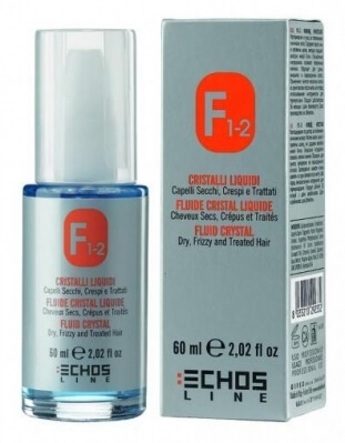 ECHOS LINE F1-2 FLUID CRYSTAL WITH LINSEED OIL - Кристал-флюид на основе семени льна с шелковыми протеинами 60 мл