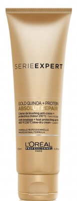 Loreal Absolut Repair Gold Quinoa + Protein - Термозащитный крем 125мл
