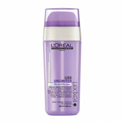 Loreal Liss Unlimited SOS Smoothing Double Serum Сыворотка двойного действия 30мл