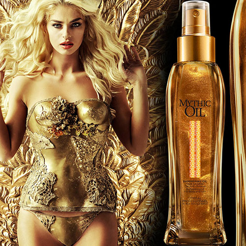 Loreal Mythic Oil Shimmerring Oil - Мерцающее масло для волос и тела 100мл