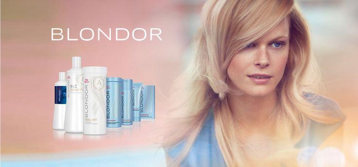 осветление волос wella blondor