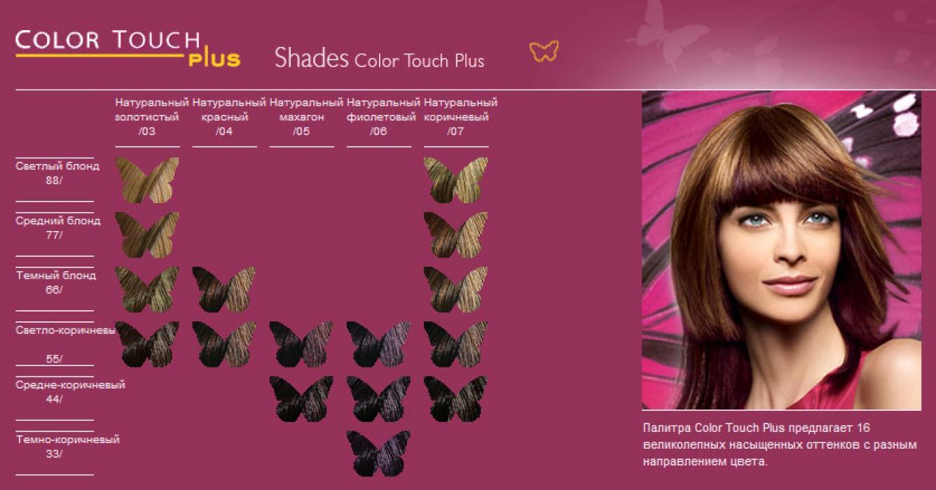 Краска для волос тач палитра цветов